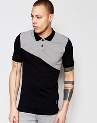 Religion Polo Shirt With Check Panel Black