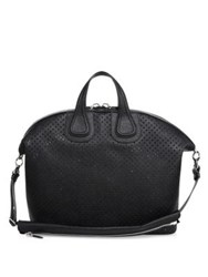 Givenchy Nightingale Perforated Leather Bag Black