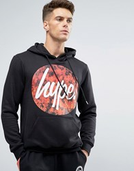 Hype Hoodie With Fire Logo Black