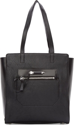Mackage Black Large Leather Cathryn Tote