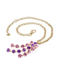 A Z Collection Pink And Amethyst Gold Plated Necklace