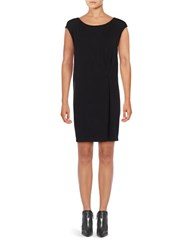 Eileen Fisher Boatneck Short Dress Black
