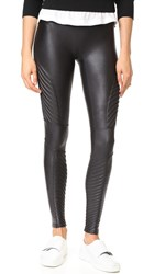 Spanx Faux Leather Moto Leggings Very Black