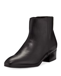 Aquatalia By Marvin K Fuoco Leather Ankle Boots Black