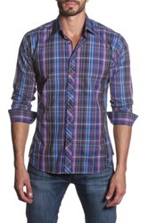 Jared Lang Long Sleeve Plaid Semi Fitted Shirt