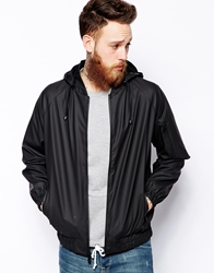 Rains Bomber Jacket Black