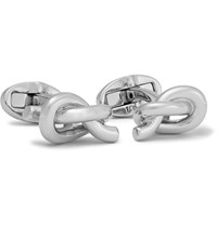 Mulberry Knotted Silver Plated Cufflinks Silver