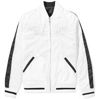 Vanquish Black Reversible Ma 1 Souvenir Jacket White