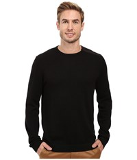 Calvin Klein Cotton Acrylic Faux Suede Zip Sweater Black Combo Men's Sweater