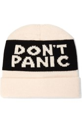 Marc By Marc Jacobs Don't Panic Merino Wool Beanie Cream