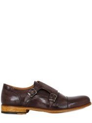 Ve.Ni. Shoes Washed Leather Brogue Monk Strap