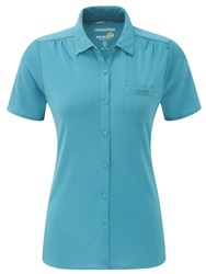 Craghoppers Kaile Short Sleeved Shirt Blue