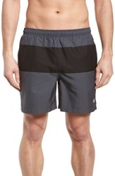Fred Perry Swim Trunks Charcoal