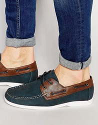 New Look Boat Shoes In Navy Navy