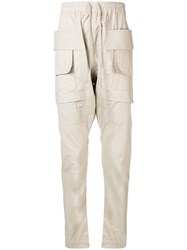 Rick Owens Drkshdw Cargo Trousers Nude And Neutrals