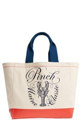 Cole Haan Pinch Canvas Tote Ivory Lobster Print