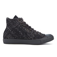 Converse Men's Chuck Taylor All Star Denim Woven Hi Top Trainers Black Storm Wind Storm Wind