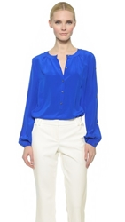 Tamara Mellon New Peasant Blouse Electric Blue