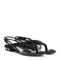 Balenciaga Classic Studded Suede Sandals