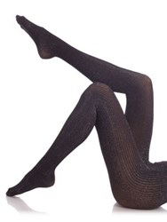 Donna Karan Lame Tights Black