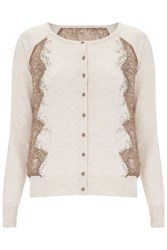 Nougat London Bluebell Embellished Cardigan Neutral