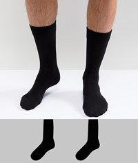 Selected Homme Socks 2 Pack Black Black