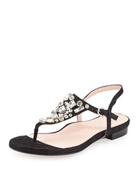 Ibsen Jeweled Thong Sandal Black Taryn Rose