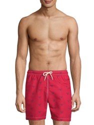 Barbour Beacon Print Swim Shorts Rich Red