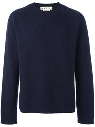 Marni Crew Neck Jumper Blue