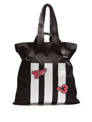 Y 3 Striped Canvas Tote Black
