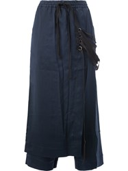 Song For The Mute Strappy Apron Cropped Trousers Women Cotton Polyester Spandex Elastane Viscose 38 Blue