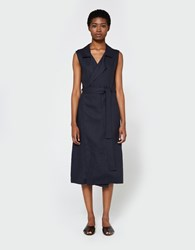 Jesse Kamm Amalfi Wrap Dress Navy