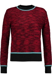 Jonathan Saunders Eve Knitted Sweater Red
