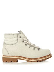 Montelliana Margherita Calf Hair Apres Ski Boots White
