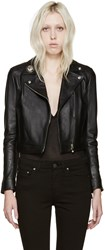 Versus Black Leather Lion Medallion Jacket