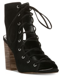 Carlos By Carlos Santana Jolene Lace Up Block Heel Sandals Women's Shoes Black