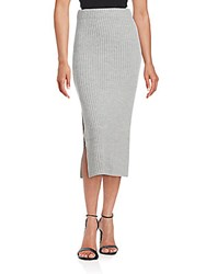 Finders Keepers Prime Time Pencil Skirt Grey