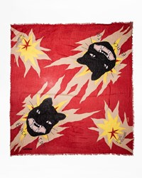 Zadig And Voltaire Delta Cat Scarf Red