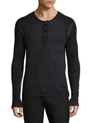 John Varvatos Knitted Long Sleeve Sweater Black Dark Brown