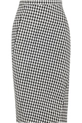 Altuzarra Vic Houndstooth Stretch Crepe Pencil Skirt Black