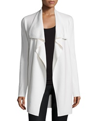 Theory Trincy E. Draped Front Cardigan Ivory Ice