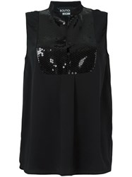 Boutique Moschino Sequin Embellished Tank Top Black