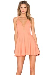 Nbd X Naven Twins Everytime Skater Dress Orange
