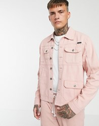Liquor N Poker Utility Worker Jacket In Dusty Pink