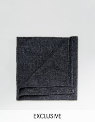 Reclaimed Vintage Black Pocket Square Black