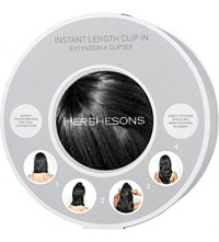 Hershesons Instant Length Clip In Hair Piece Black