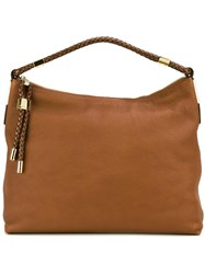 Michael Kors 'Scorpios Hobo' Shoulder Bag Brown