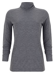 Phase Eight Ginia Roll Neck Top Charcoal