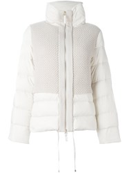 Twin Set Funnel Neck Padded Jacket Nude And Neutrals