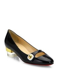 Christian Louboutin Bibababy Patent Leather Mary Jane Pumps Black